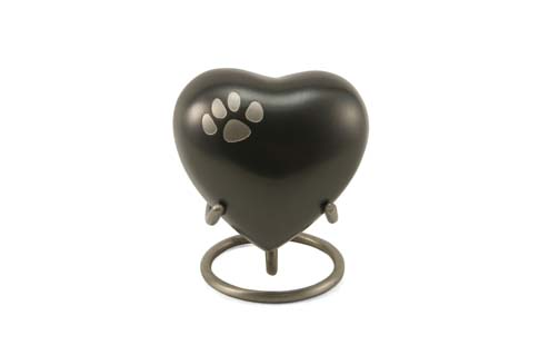Keepsake Heart - Classic Single Paw Slate Image
